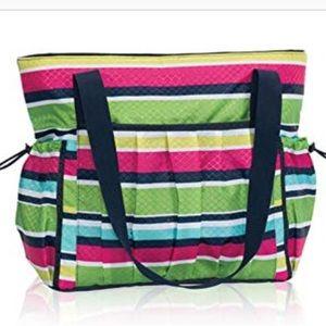 Thirty One Stripes Tote Diper Gym Beach Bag